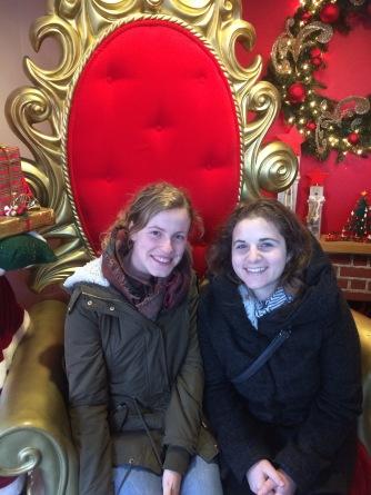 Verena and Leah visit Santa